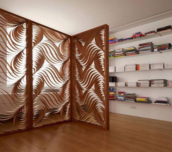 room dividerlove this! For the Home Pinterest Biombos, Deco - muros divisorios de madera
