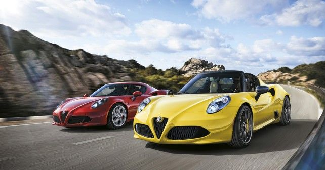 Alfa Romeo 4C Spider to make its debut at the Geneva Motor Show - autoX