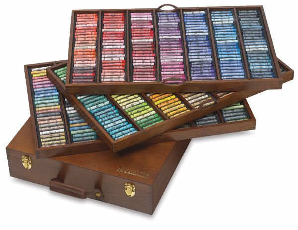 Sennelier Set of 525 Soft Pastels in Deluxe Wooden Box