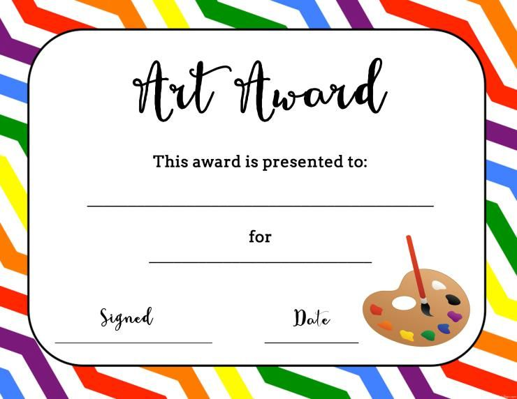 Free Printable Art Competition Certificates Google Search