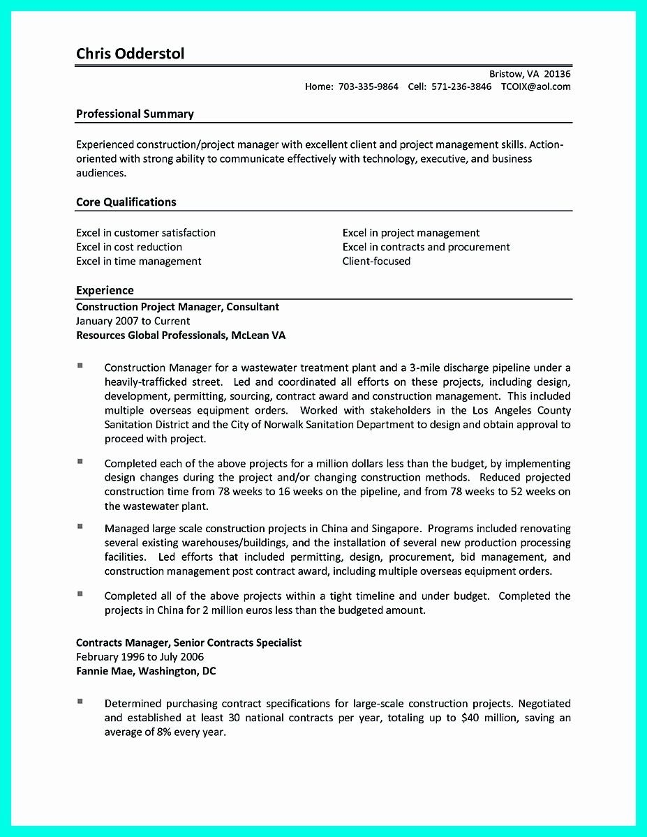 25 Construction Project Coordinator Resume In 2020 Time
