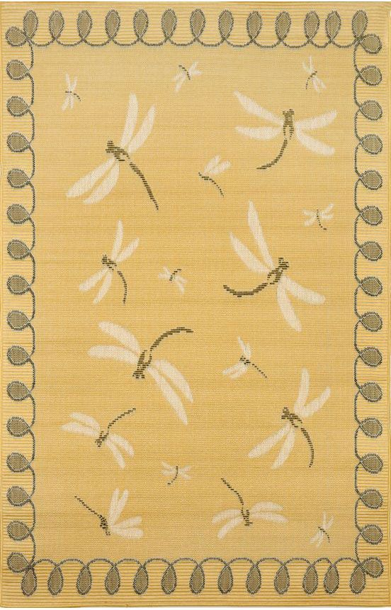 Trans Ocean Terrace Dragonfly Yellow Rug 10 Off On Rugs Area