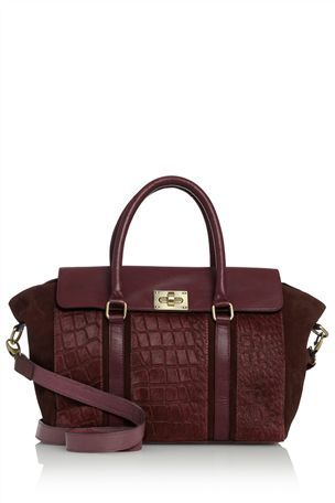 Berry Croc Effect Large Tote From The Next Uk Online Small Bags