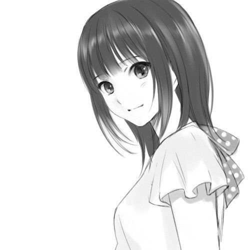 Anime Characters That Look Like Me : Dark haired anime girl in black and white kinda looks
