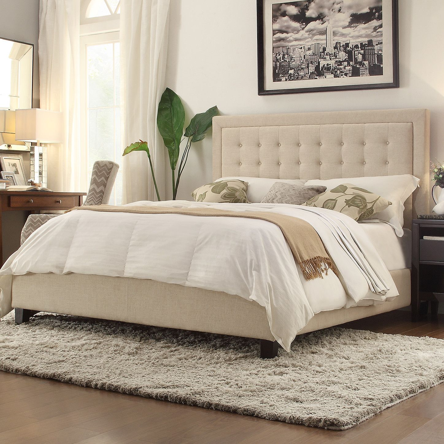 Kingstown Home Aurelia Panel Bed Upholstered panel bed