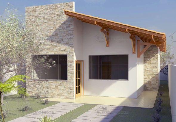 Planta de casa t rrea com 2 quartos para 10m de frente for Casa home goods