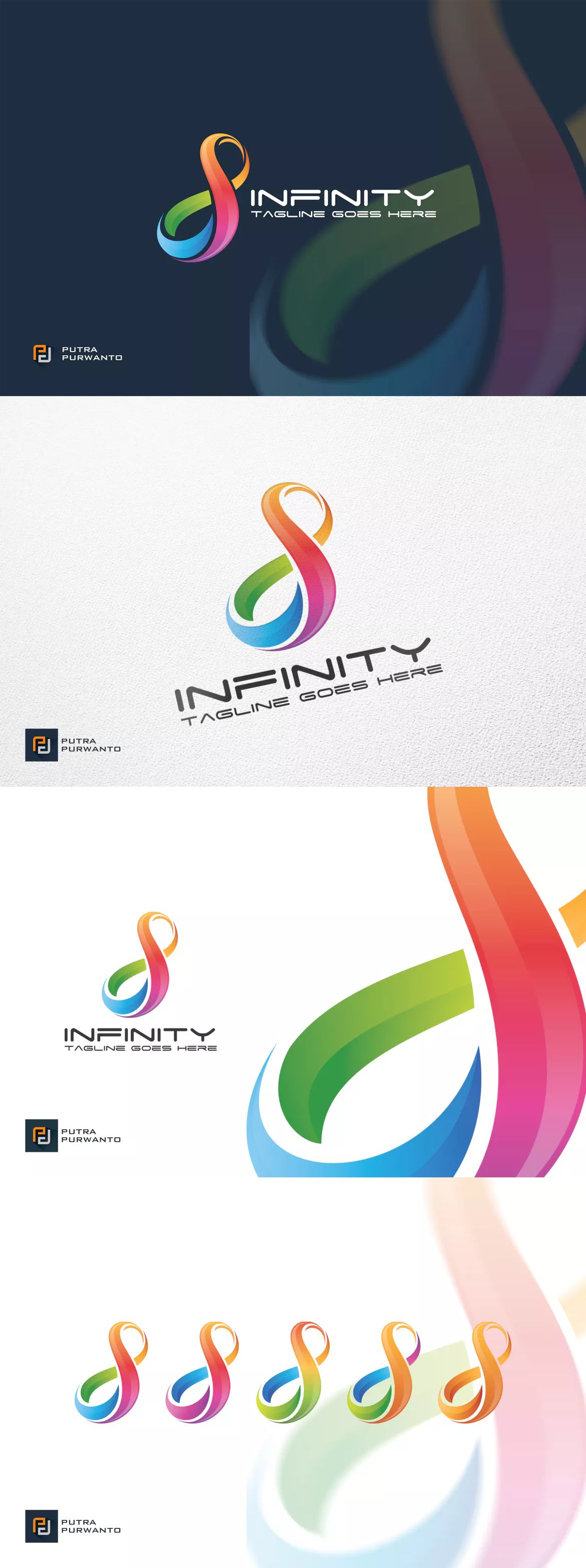Infinity Logo Template By Putra Purwanto On Envato Elements Logo Templates Dna Logo Infinite Logo
