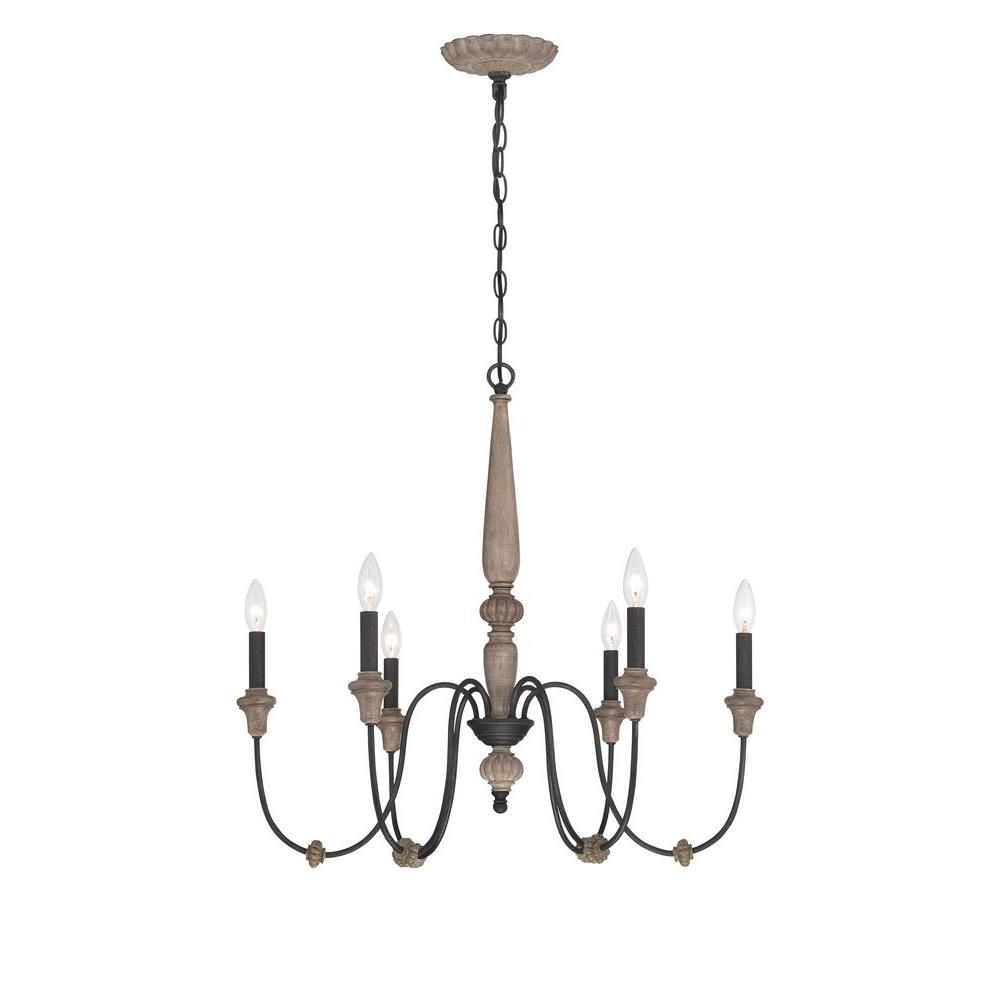 farmhouse lighting home depot. world imports capra 6-light rust chandelier with distressed ivory accents farmhouse lighting home depot
