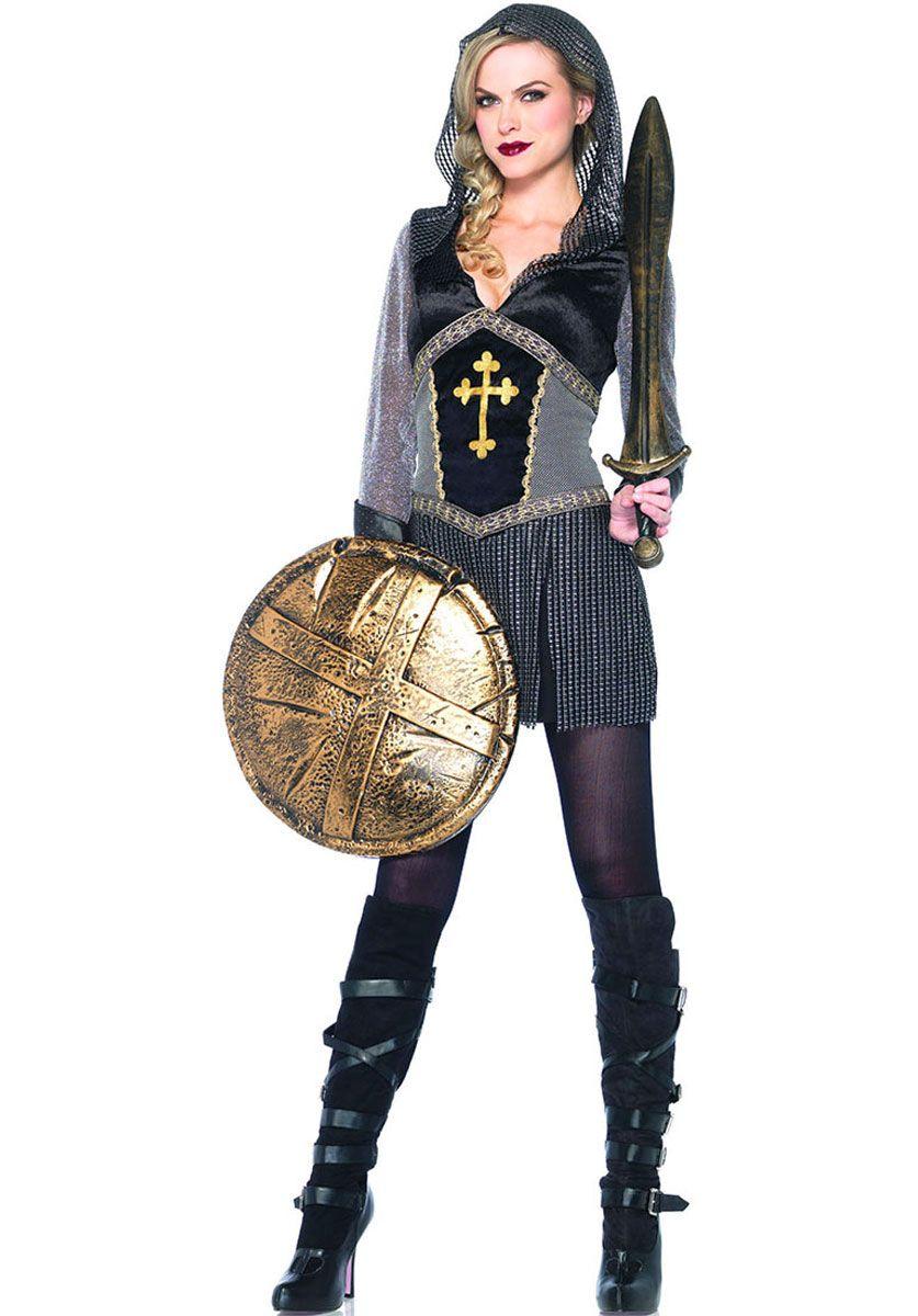 Adult Joan Of Arc Historical Heroine Costume Women  Warrior Fancy Dress