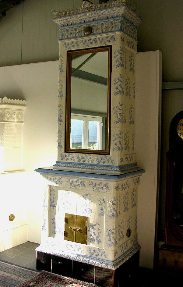 6 kachelofen antik schweden schwedisch h he 327 cm weiss - Spiegel verzieren ...