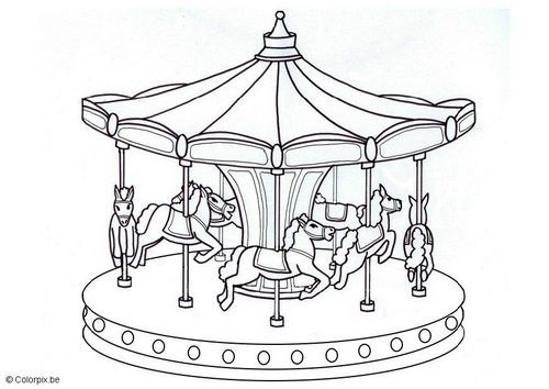 Merry go round coloring page coloring page merry go