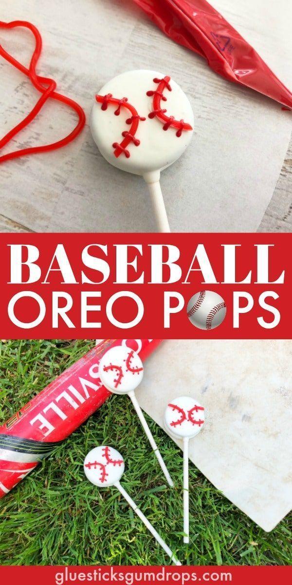 Photo of Cute Baseball Snack Idea for the Team – Baseball Oreo Pops