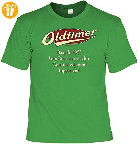 Goodman Design ® Geburtstagsgeschenk T-Shirt mit Urkunde Oldtimer Baujahr  1957 Geschenk zum 60. Geburtstag 60 Jahre Geburtstagsgeschenk zum 60  Geburtstag ...