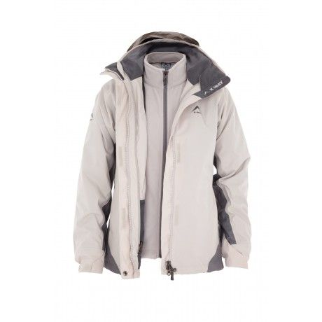 9bd037120 K-Way's Atlas is a three-in-one ladies' nylon rip-stop travel jacket with a  waterproof coating and a zip-in removable inner fleece.