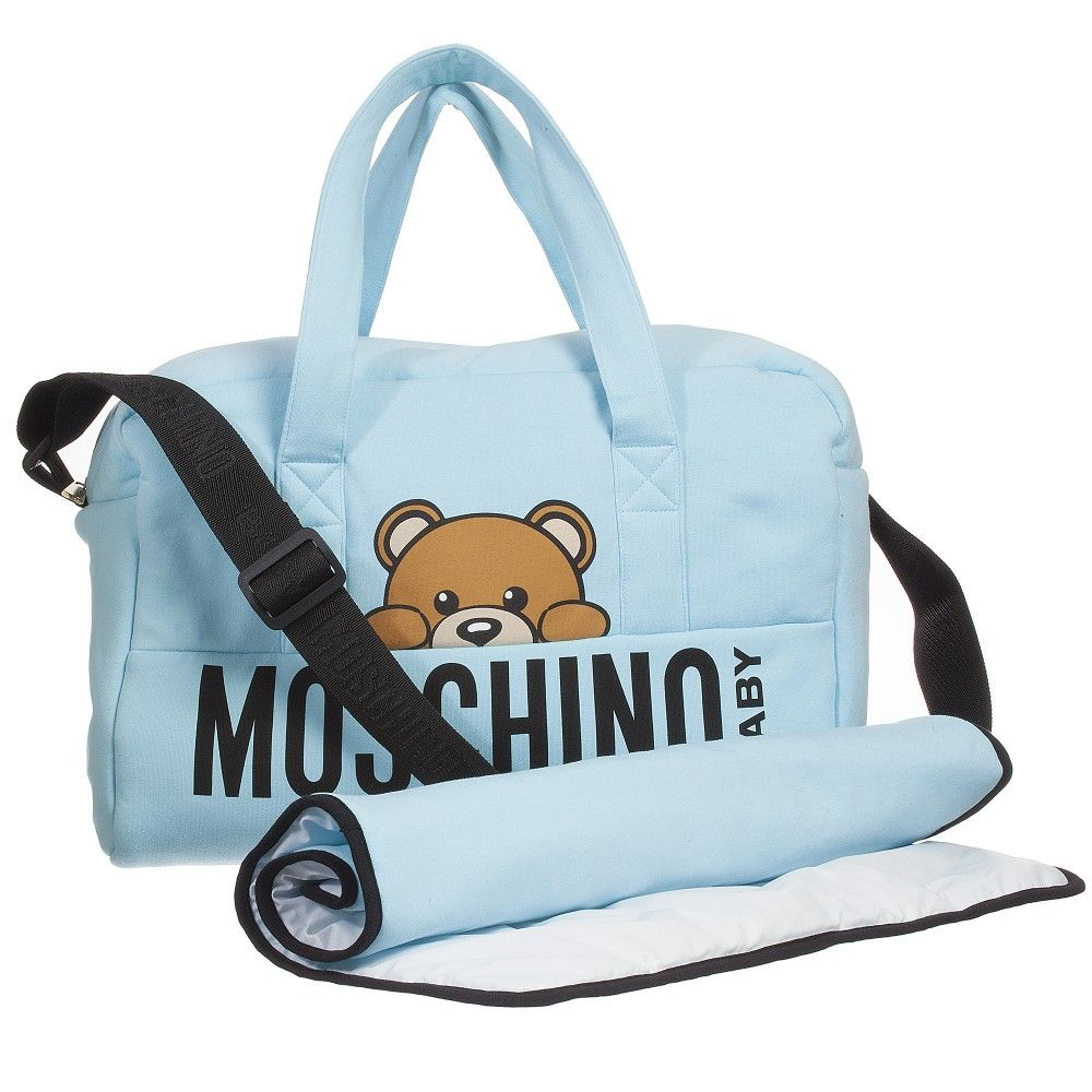 Moschino Baby Boy Blue Changing Bag 40cm Childrensalon