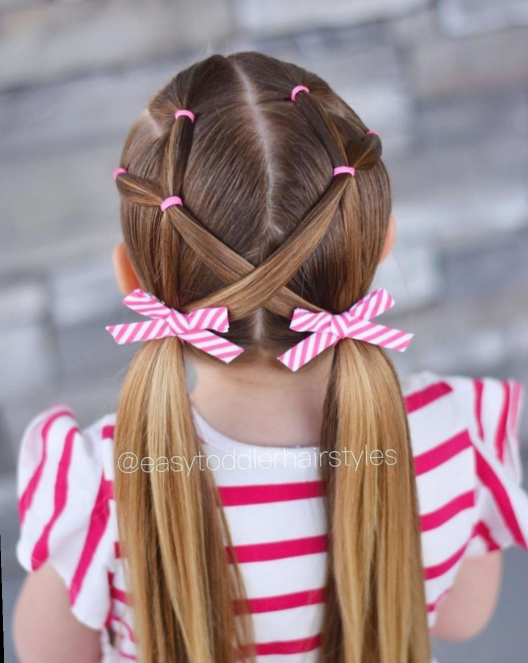 Hairstyles for kids videos rubber bands rosegoldhair