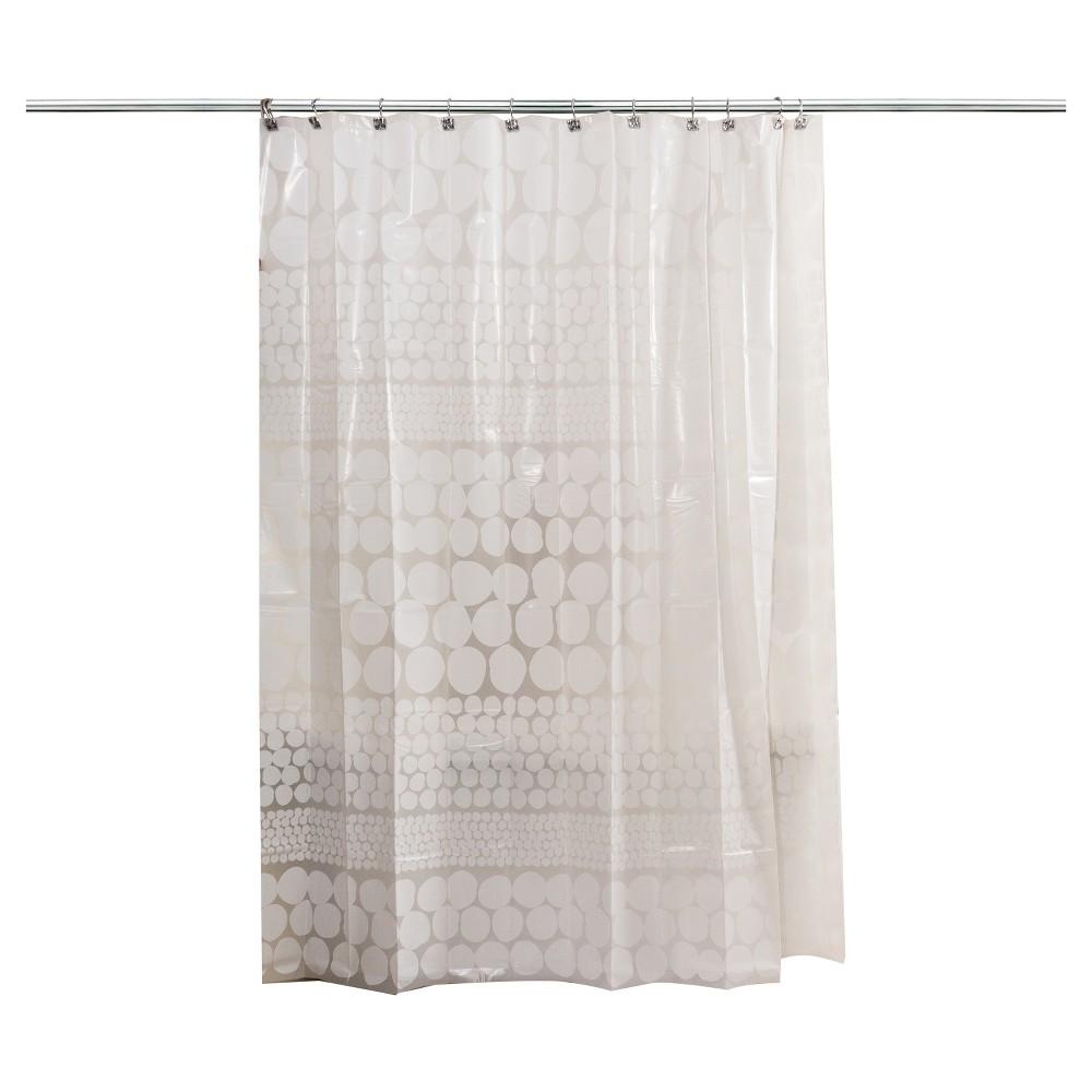Shower Curtain Splash Home Polka Dots White Shower Curtain