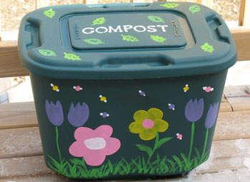 Earth Day Compost Bin: This project isn't only fun, it's great for the environment and your garden. ThisEarth Day craft will help you create your own compost bin to keep on your porch or back deck. [click for how to]