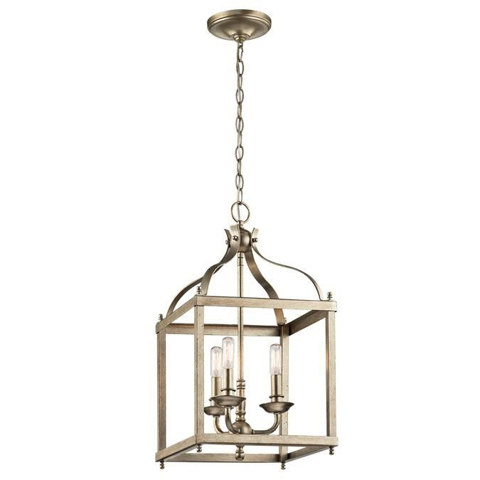 Kichler lighting 42566sgd larkin 3 light pendant in sterling gold