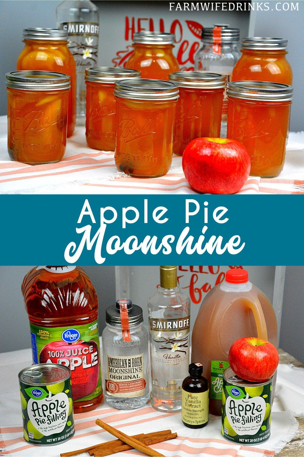 Apple Pie Moonshine with Real Apples   Apple pie moonshine ...