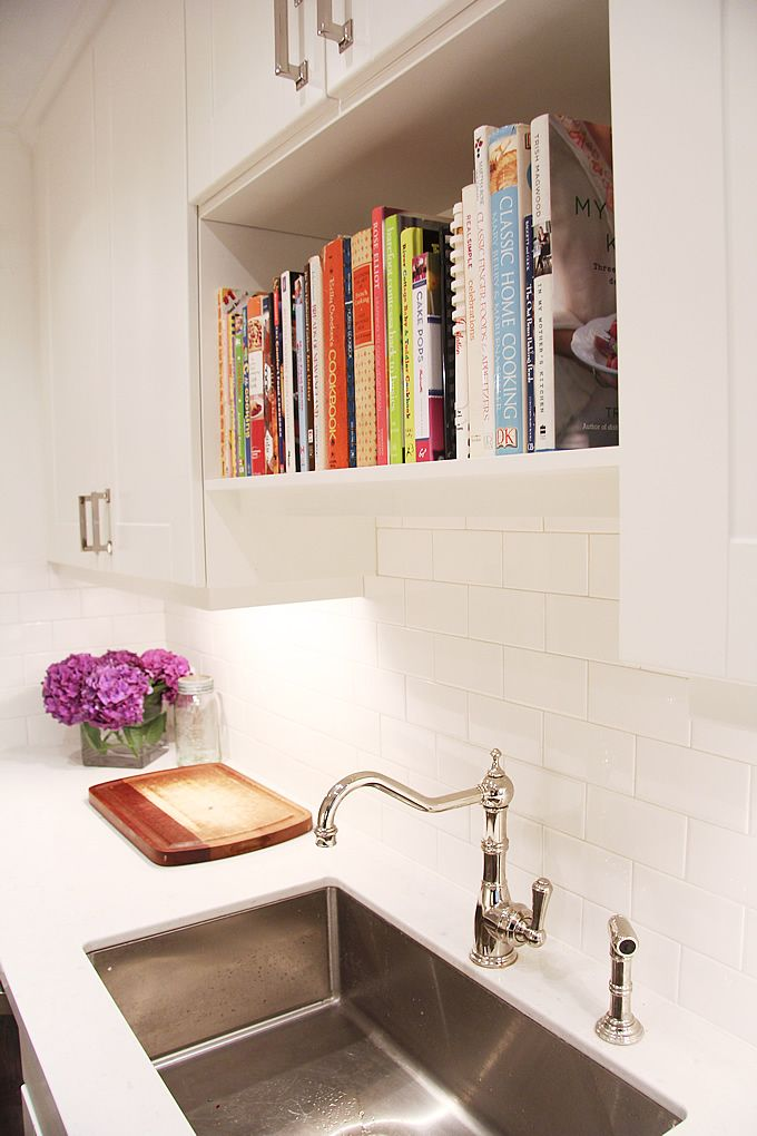 Cookbook Shelf I Was Just Thinking E Above The Sink Is Wasted When You Don T Have A Window What Perfect Way To Fix That