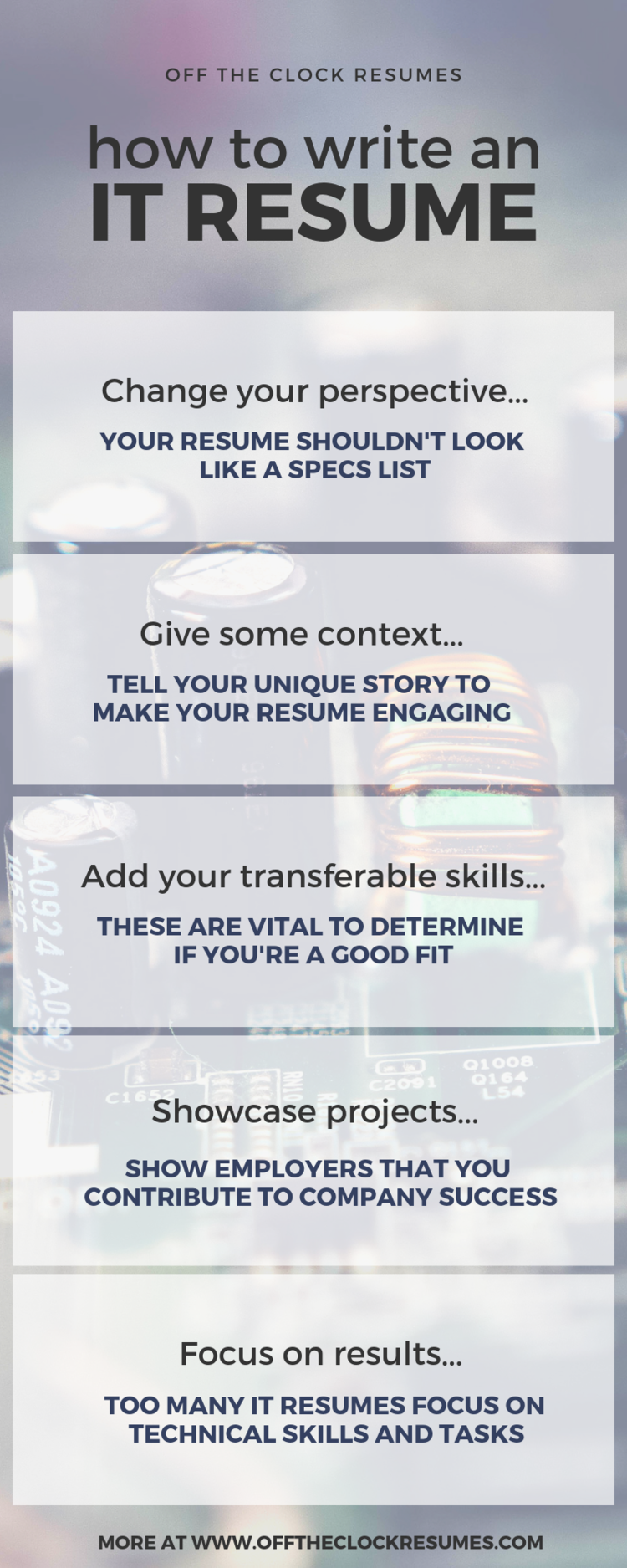 How To Write An IT Resume That Won't Bore Employers - Resume, Resume examples, Words to use, Technology job, Professional resume writers, Resume tips - Stop boring employers, and start capturing their interest with an IT resume that speaks to both technical and nontechnical audiences  This guide covers how to write an IT resume that employers will want to read!