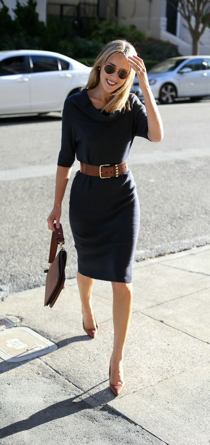 Charcoal grey sweater dress that can be worn multiple ways off-the ...