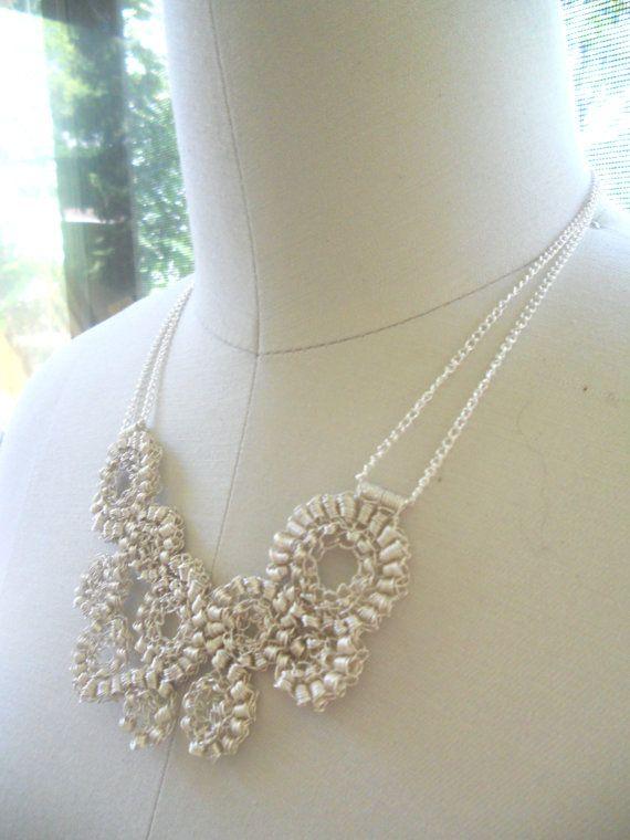 Crochet necklace | Handbands | Pinterest | Collares tejidos ...
