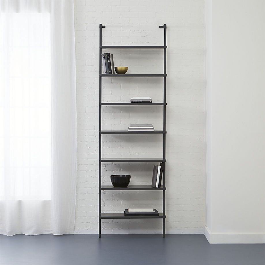 400 stairway grey 96 wall mounted bookcase 30 wx12 dx96 on wall mount bookshelf id=28808