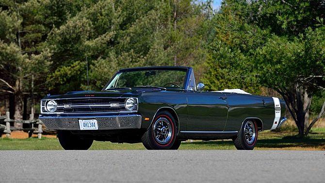1969 Dodge Dart Gts Convertible 340 Ci Automatic Dodge Dart
