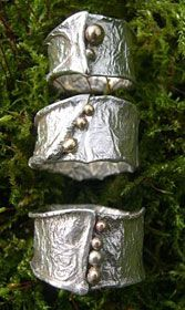 Handmade Rings - silver and Gold