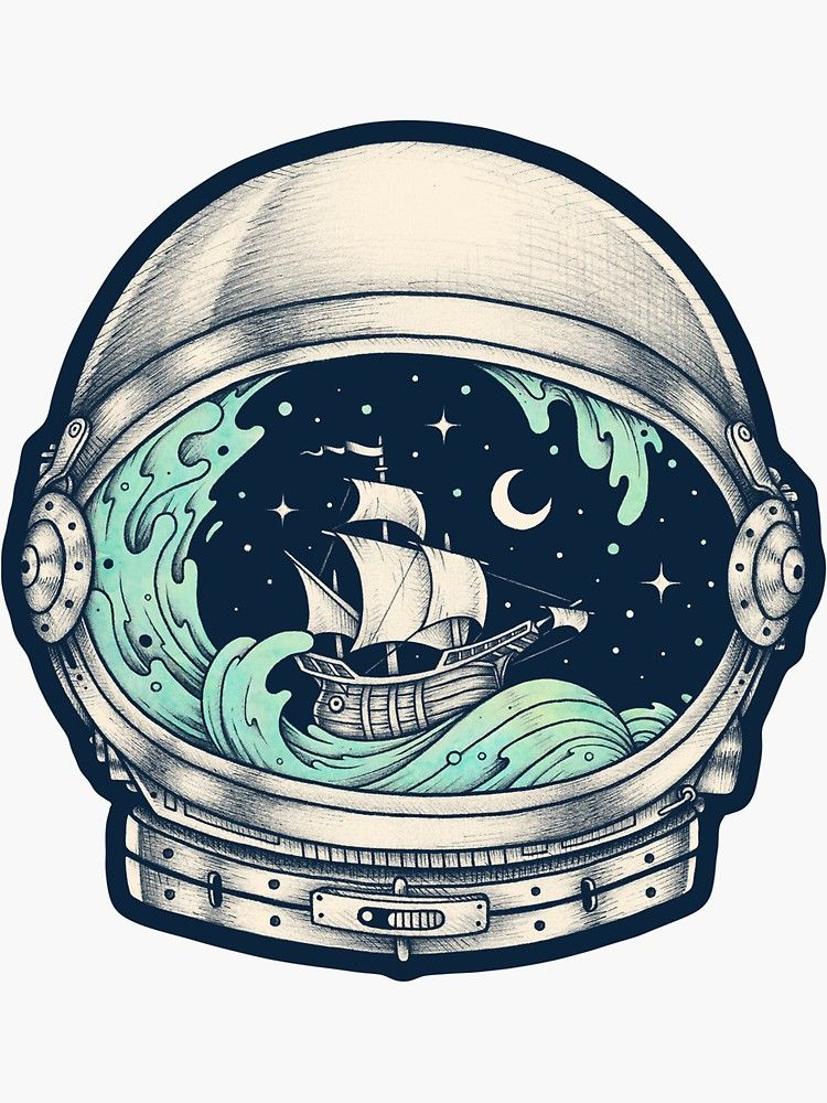 'Spaceship' Sticker by buko