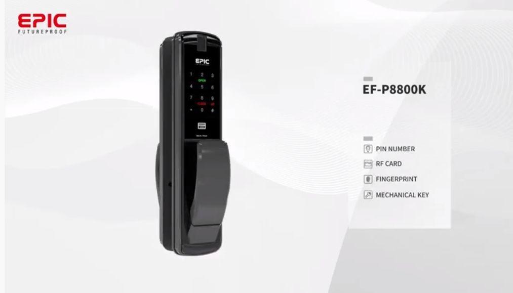 Featured Product Epic Es P8800k Push Pull Type Fingerprint Digital Door Lock Features Fingerprint Authenticat In 2020 Digital Door Lock Wireless Door Lock Door Locks