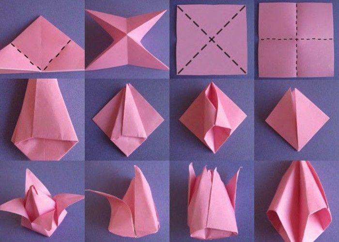 origami-tulpe-origamirosapapier-origami-figuren-origami-faltanleitung-falttechnik-papier