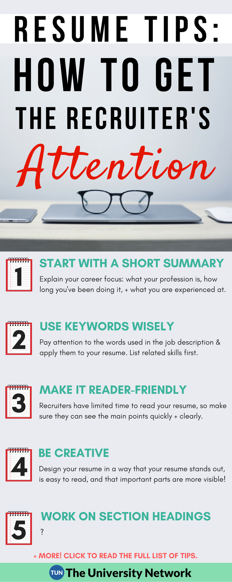 Words To Use For Resume Resume Tips How To Grab The Recruiter's Attention  The College .