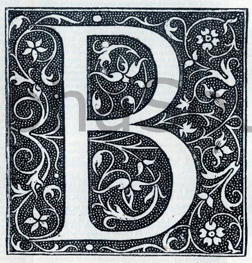 INSTANT DOWNLOAD French Letter B  Illuminated by alphasoup on Etsy, $2.00