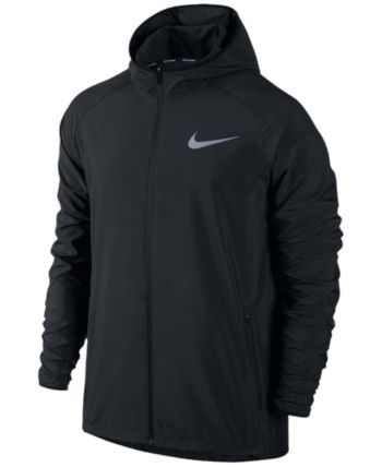 42e11eb862 Nike Men's Essential Hooded Water-Resistant Running Jacket - Yellow ...