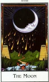 Moon card from the New Palladini Tarot deck