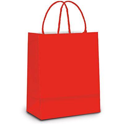 Sacola para presente papel 21,5x15x8cm vermelha 1000015 Cromus - Embalagens - Kalunga.com
