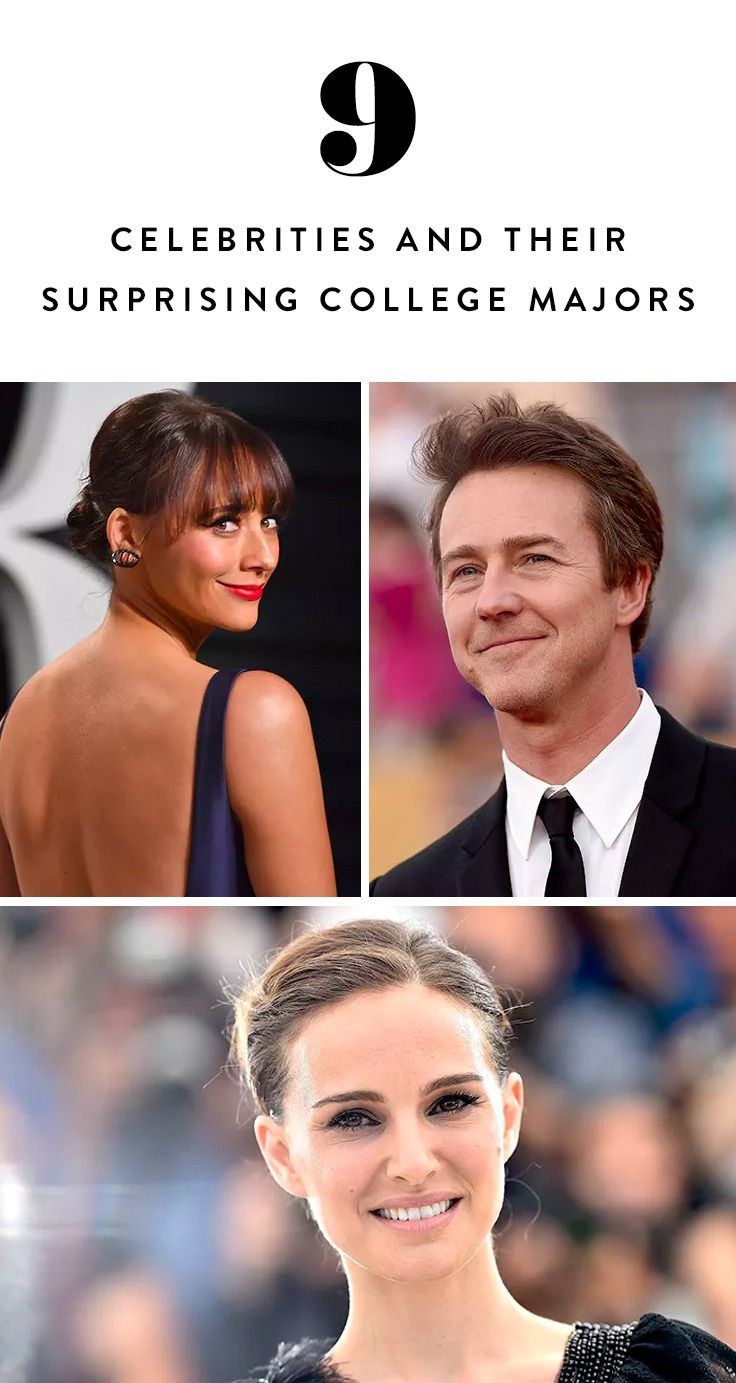 9 celebrities and their surprising college majors  with