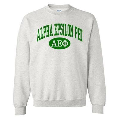 Be collegiate and sorority ready in our Greek Sorority Printed Vertical Arc Crewneck Sweatshirt by Gildan! Your organization will be spelled-out above the oval, in the font shown. Then your organization's Greek letters will be used inside of the oval. You can choose your crewneck color and print color above. This is a PRINTED item. Sweatshirt Features: Gildan brand, 8-oz. 50% cotton, 50% polyester Pill-resistant, air jet yarn Double-needle stitching throughout Set-in sleeves 1 x 1 ribbed collar,