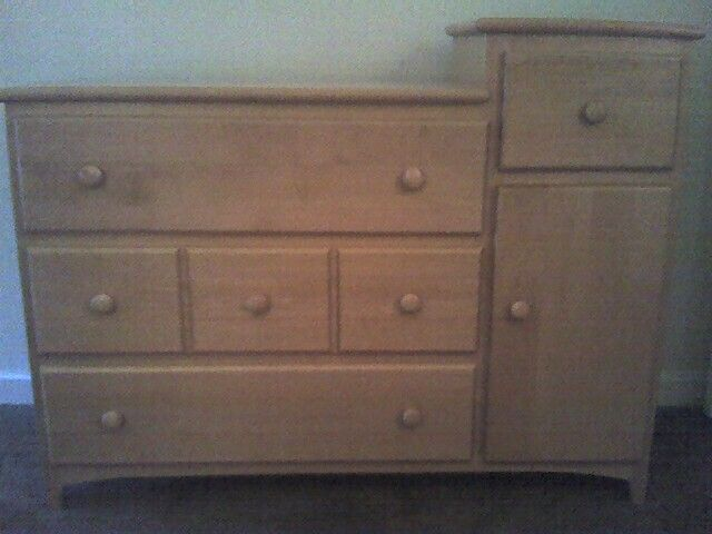 Existing Pali Maple Dresser And Changing Table Combo