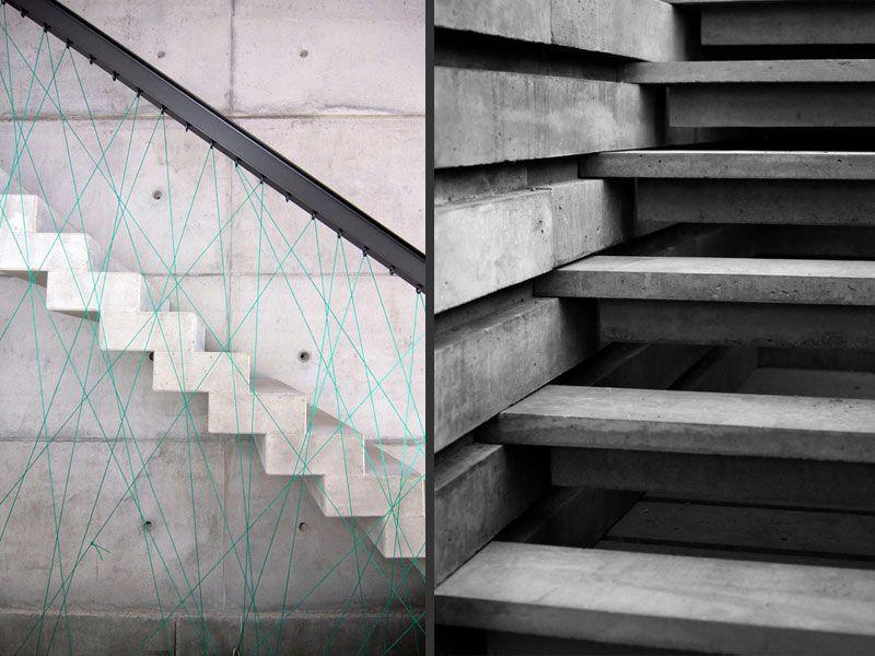 Estructuras de hormig n en arquitectura home - Escalera prefabricada de hormigon ...