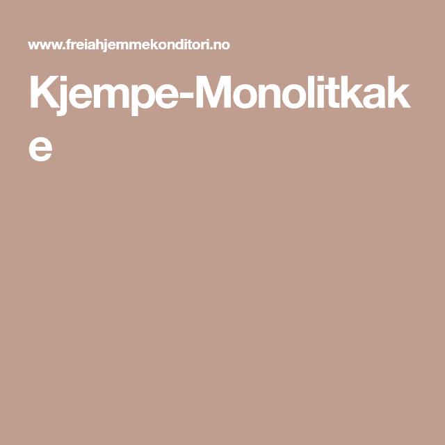 Kjempe-Monolitkake