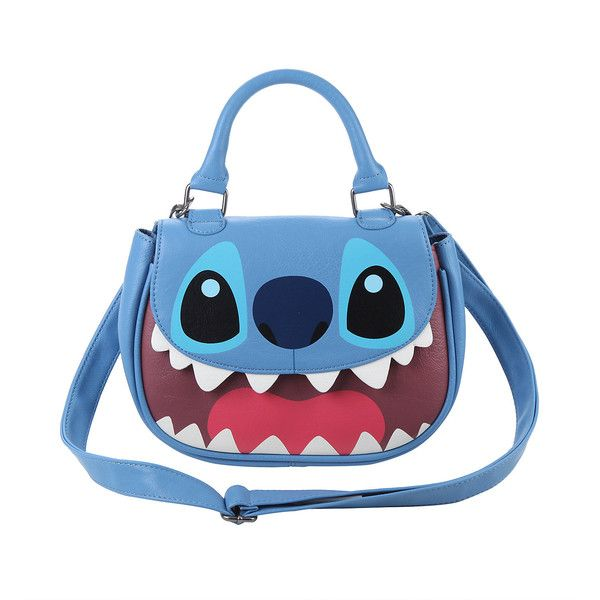 34488a07d85f Disney Lilo Stitch Face Crossbody Bag Hot Topic ($30) ❤ liked on Polyvore  featuring