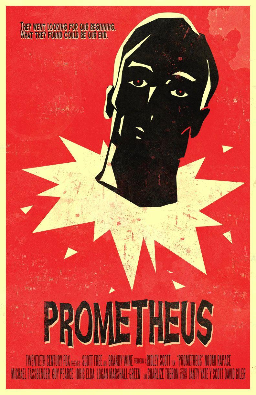 Prometheus Inspired Retro Modern Vintage Movie Poster 25 00 Via Etsy Vintage Movies Movie Posters Vintage Movie Posters