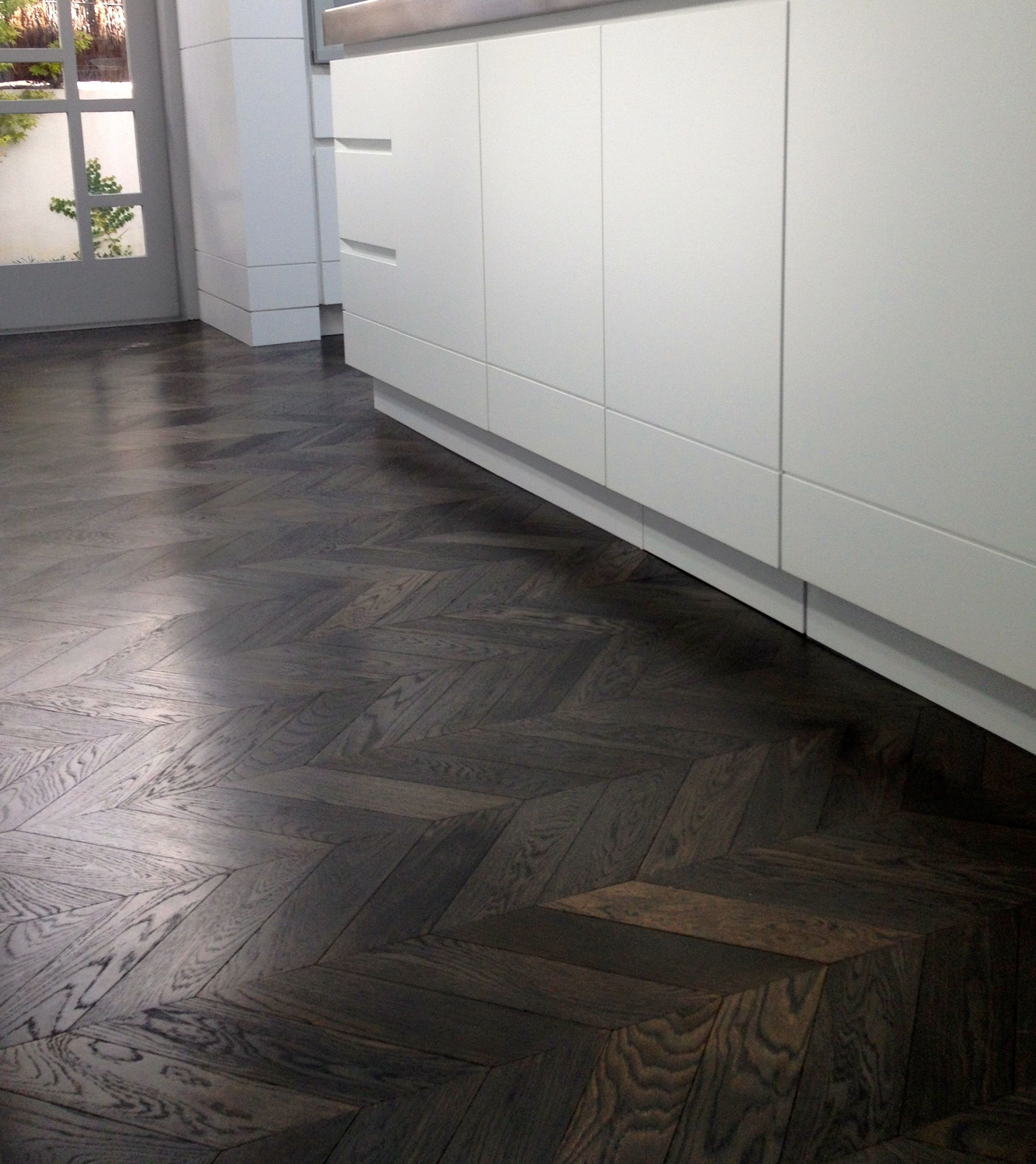 Chevron Floors Floors Now: French Oak Chevron Parquet Flooring In Imperial Grey