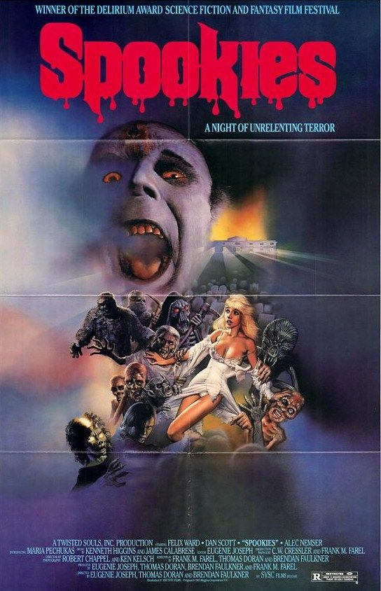 Spookies 1986 Horror 1980s Horror Movies Classic Horror Movies Posters Horror Movies