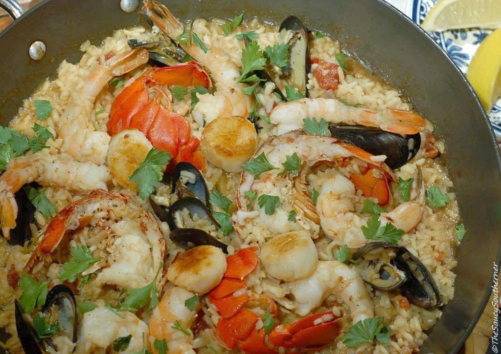 Seafood Risotto recipe, one pan dinner, easy risotto with seafood, Fish Friday, Fish risotto