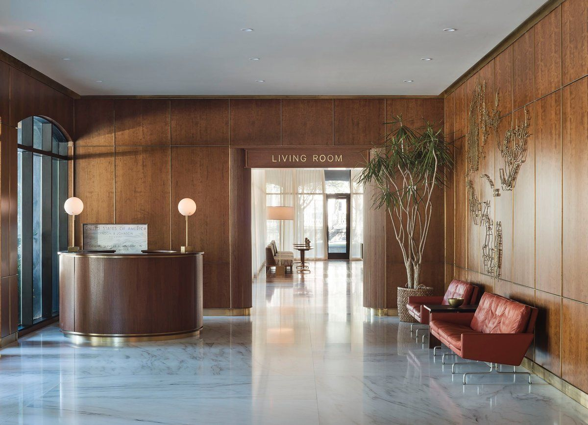 Mid Century Modern Lobby And Reception In Charleston, SC By Workstead